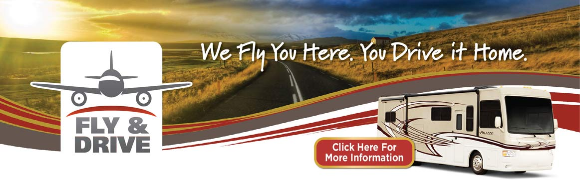 Lazydays Fly & Drive Program: We Fly You Here. You Drive Your New RV Home.