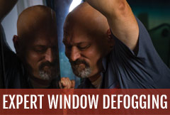 Let our glass experts defog your RV windows.