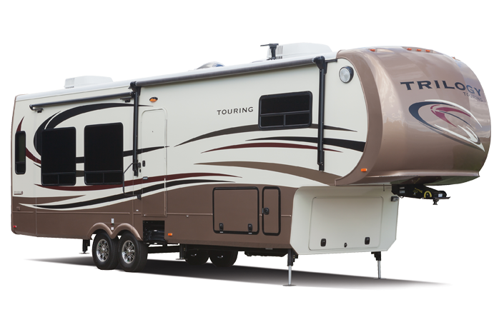 Radius curves give Dynamax RVs curb appeal and improved aerodynamics.