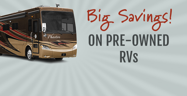 Save big on pre-owned RVs at Lazydays.