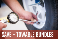 Enjoy RV service savings with towable RV maintenance bundles offered at Lazydays.