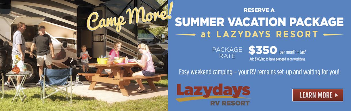 Summer Vacation at Lazydays Resort