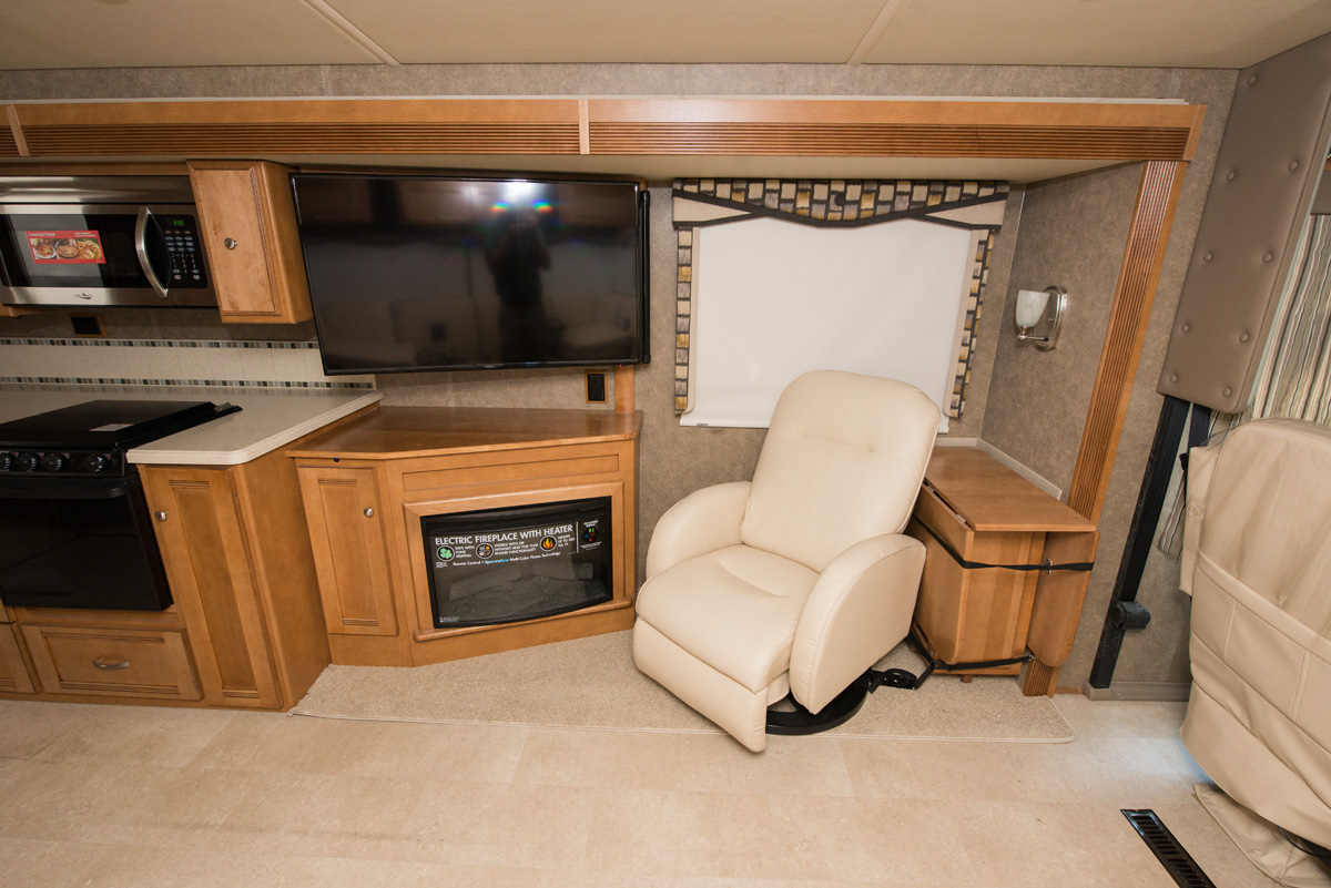 A luxury interior is what RVing customers can expect from the 2016 Winnebago Sightseer.