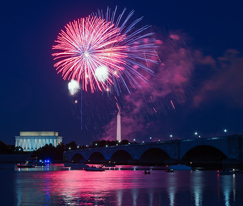 Fireworks of Washington D. C. National Mall