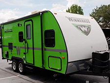 RVers are enjoying the treasure chest of features Winnebago towables offer in the 2015 Minnie.