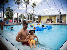 The Lazydays Tampa resort has a renovated pool area and playground.