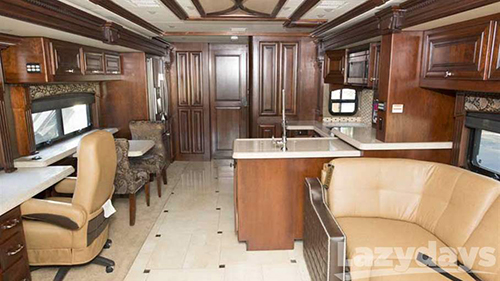The interior of the 2015 Monaco DynastyClass A diesel motorhome was designed by customers with their needs in mind.