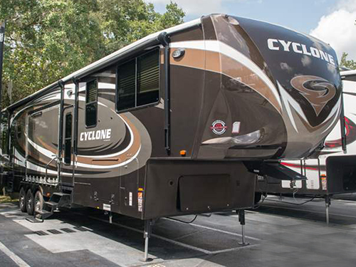 The 2016 Heartland Cyclone fifth wheel is just perfect for homestyle luxury away from home.