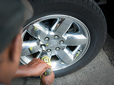 """Having the proper wrench socket and drill to change your towable RV or motorhome's tires and making sure they're properly inflated will help prolong the life of your tires and keep you safe while traveling to your destination."""""""