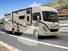 Inside the 2016 A.C.E. diesel motorhome comfort is the main focus.