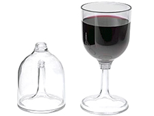 The durable GSI Outdoors nesting wine glass helps make your campsite evenings more relaxing.