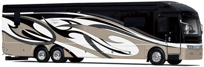 Behold the unsurpassed comfort and luxury of an American Coach RV.