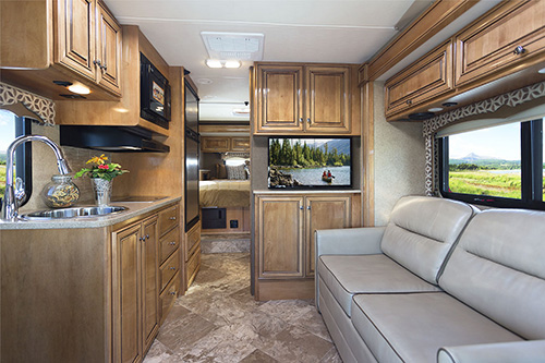 The 2016 Thor Siesta Sprinter Class B Plus diesel motorhome has various amenities to accommodate many user needs.