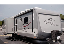 The floorplans inside the 2016 Open Range Roamer provide plenty of space and lots of high-end luxuries inside a travel trailer that's easy to tow..