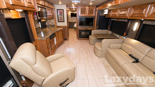 The 2016 Tiffin Allegro has six variations in its floorplans to meet your every luxury desire.