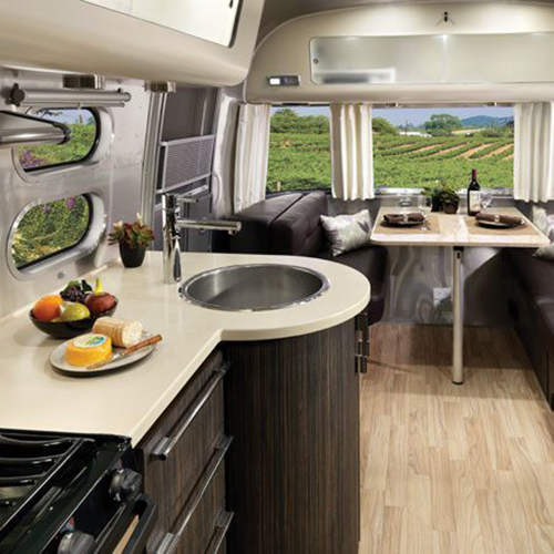 The interior style and comfort of the Airstream International Signiture set it apart from many other travel trailers and RVs.