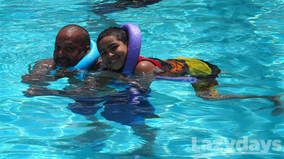 Along with all the special autumn events planned at the Lazydays Tampa Resort location, campers can enjoy swimming in the pool almost year-round in the warm Florida climate.