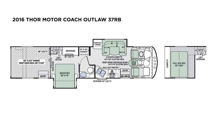 2016 Thor Motor Coach Outlaw 37rb For Sale In Tampa Fl