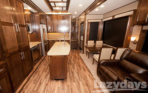 Enjoy the luxuries of superior construction inside and out with the 2016 Vanleigh Vilano fifth wheel.