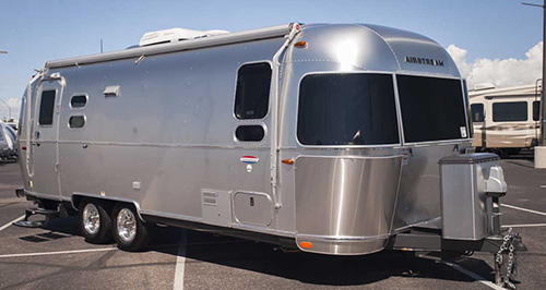 Airstream International received awards for its towables like this 2016 International Serenity