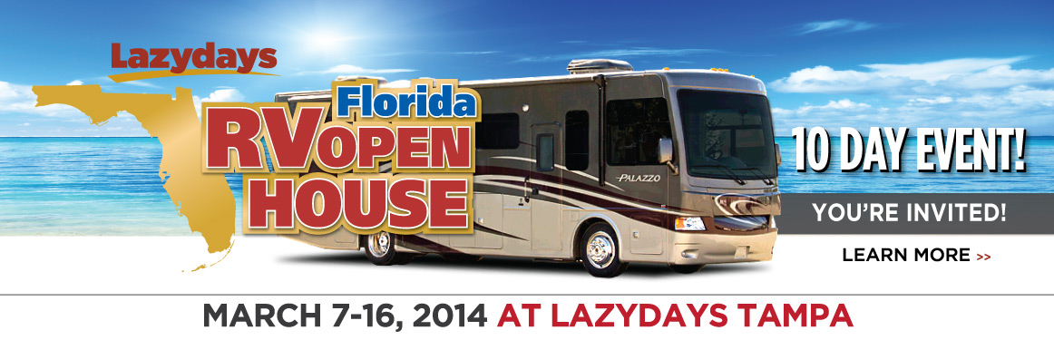 RV Open House, Motorhomes, Lazydays Tampa Open House