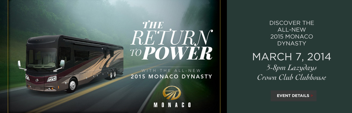 2015 Monaco Dynasty event, Monaco RVs and Motorhomes