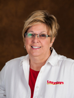 Begin your RV journey with Sharon Harmon, an expert Lazydays Sales Consultant.