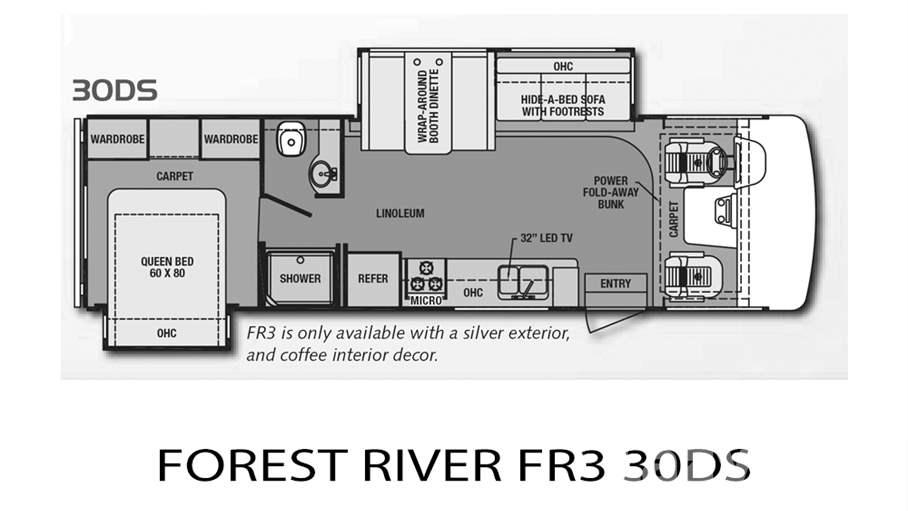 Forest River Motorhome Floor Plans: 2014 Forest River FR3 30DS For Sale In Tampa, FL