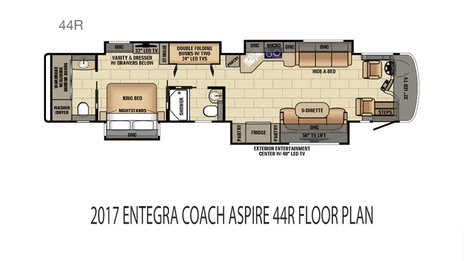 2017 entegra coach aspire 44r for sale in tampa fl lazydays for Coach house floor plans