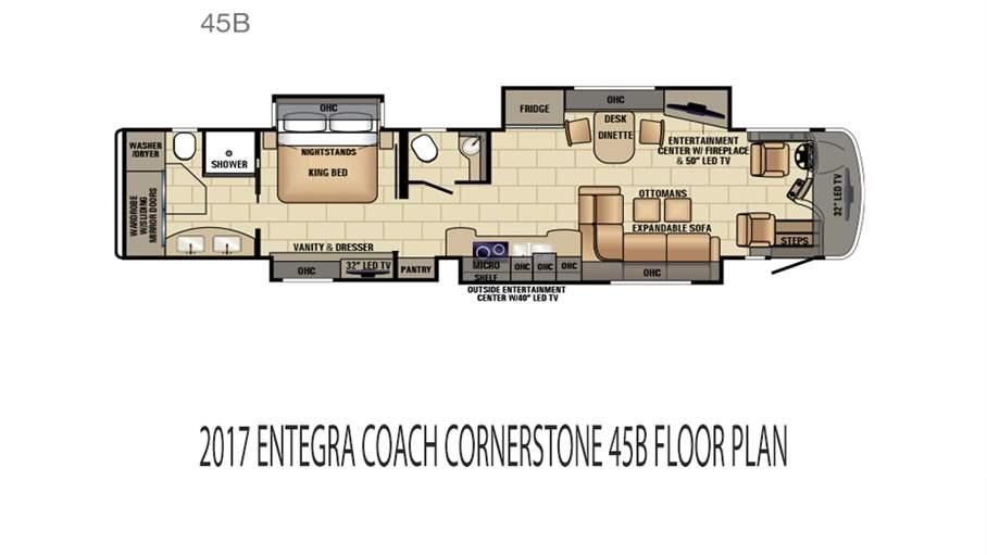 Entegra coach rvs motorhomes for sale lazydays rv for Coach house floor plans