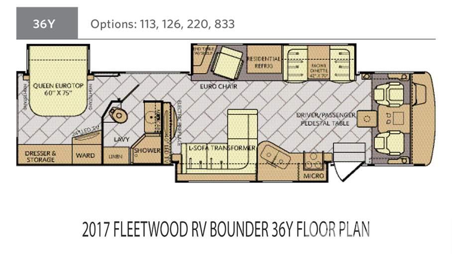 fleetwood bounder motorhome floor plans