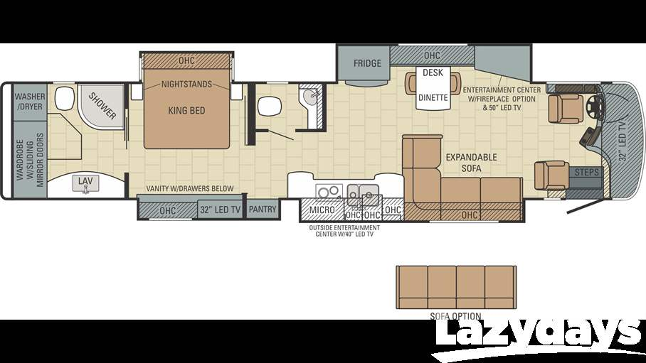 New used entegra coach rvs for sale lazydays for Coach house floor plans