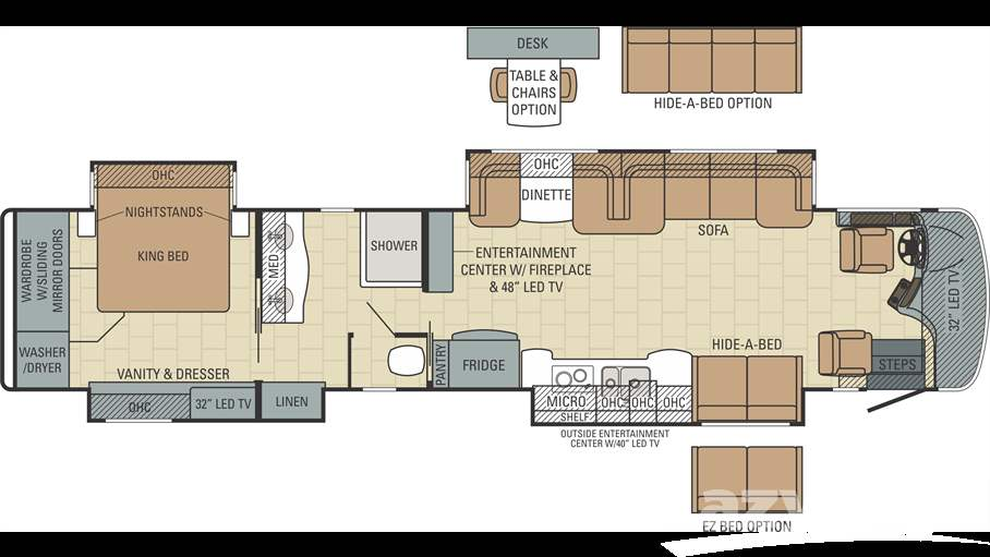 New used 39 39 rvs for sale for Coach house floor plans