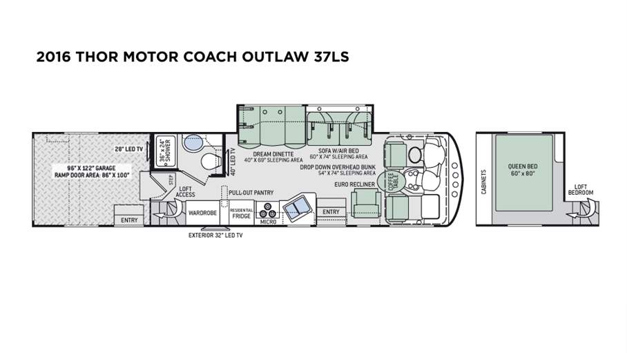 2016 Thor Motor Coach Outlaw 37ls For Sale In Tampa Fl