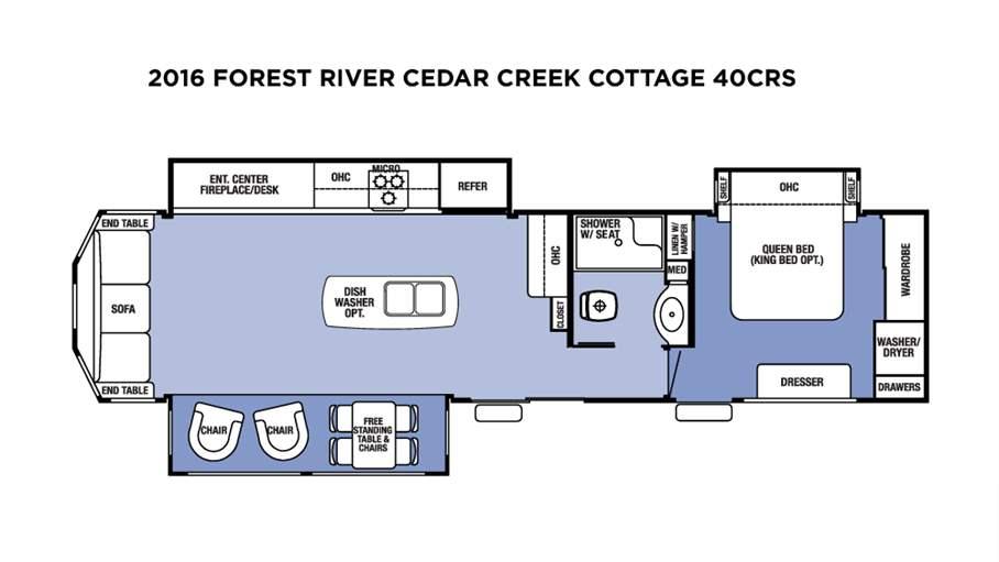 2016 Forest River Cedar Creek Cottage 40crs For Sale In
