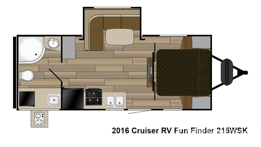 2016 cruiser rv fun finder 215wsk for sale in loveland co for Floor plan finder