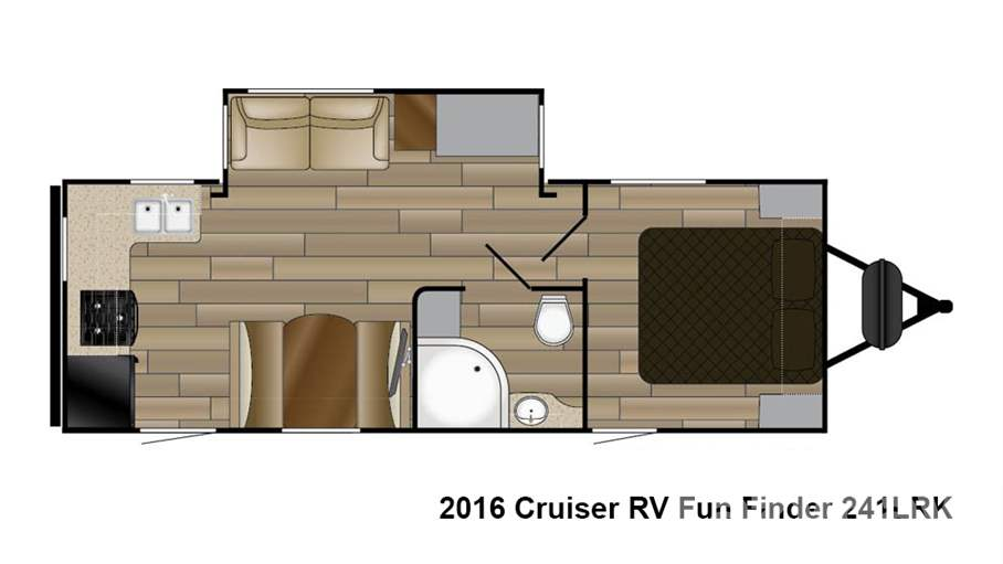 2016 cruiser rv fun finder 241lrk for sale in denver co for Floor plan finder