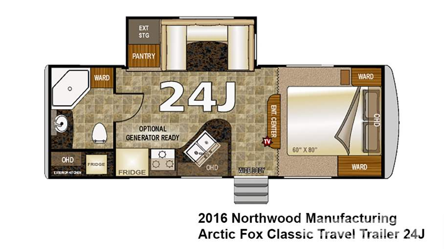 arctic fox travel trailer floor plans 2016 northwood