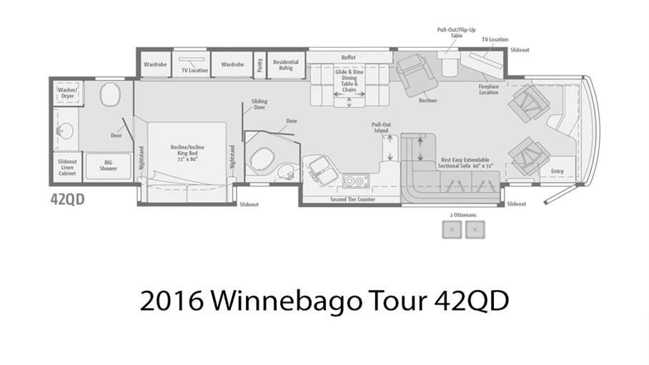 2016 Winnebago Tour 42qd For Sale In Tampa Fl Lazydays